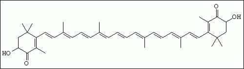 Formula chimica astaxantina